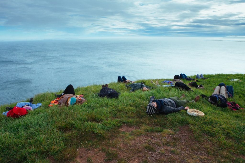 Lindsay Dobbin, Listening As Wayfinding: Magdalen Islands, 2016. Participatory Performance. Photo: Nigel Quinn.
