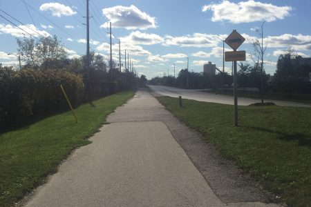 Multi-use path, Lakeshore Rd.