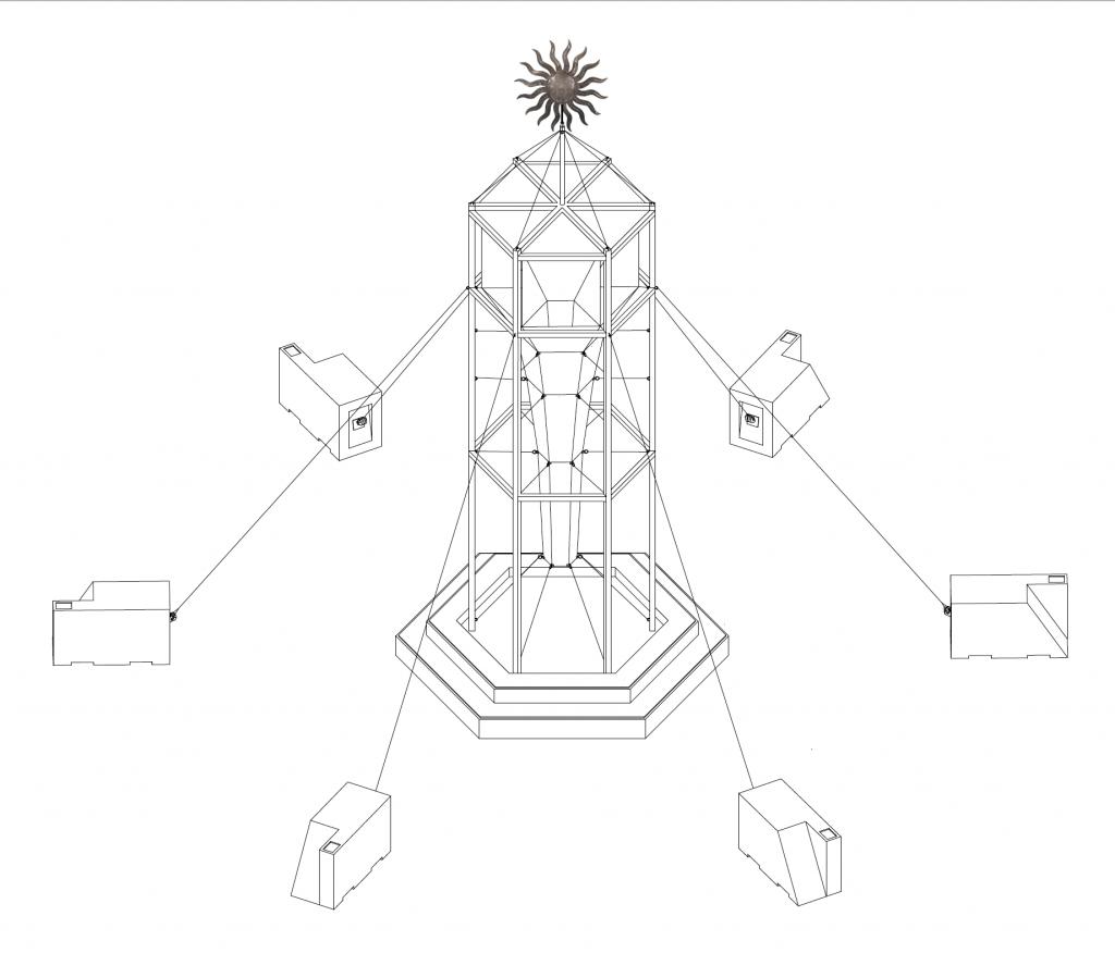 Pejvak, Observatory for Riparian Repose (artist's rendering), 2018.