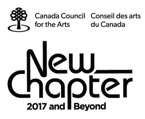 Canada Council for the Arts New Chapter logo