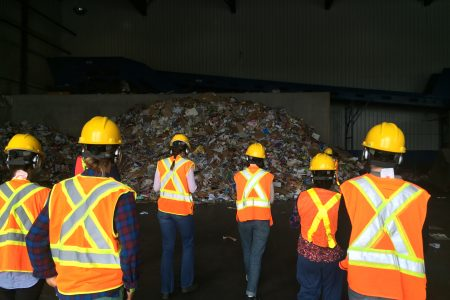 Synthetic Collective at Materials Recovery Facility in London, ON.